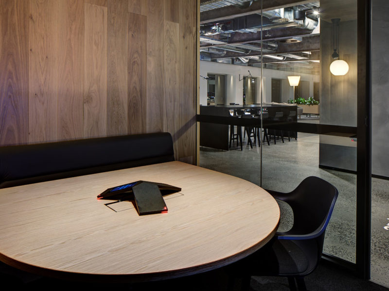 Timber joinery boardroom in architectus office