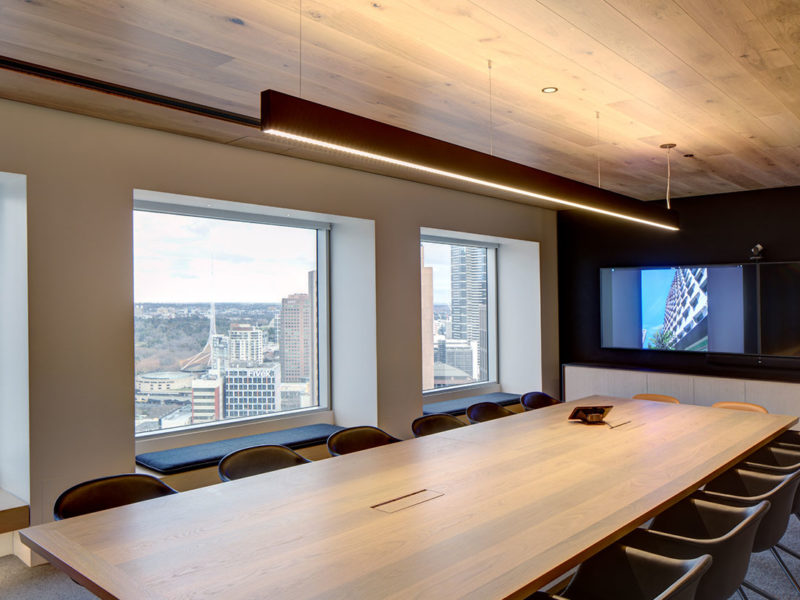 Timber joinery in architectus office boardroom